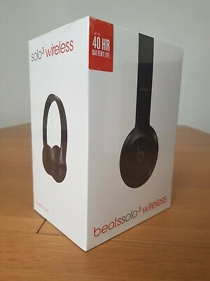 New Beats by Dr. Dre Solo 3 Wireless Headphones Gloss Black SEALED. FREE Postage