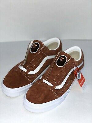 a8e93bdf6e VANS OLD SKOOL Pig Suede Shoes Men 8 Leather Brown Scotchgard ...