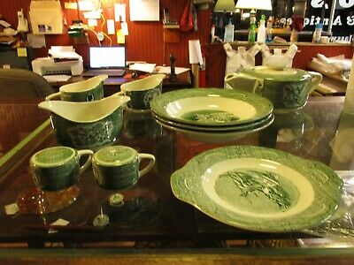 THE OLD CURIOSITY SHOP DISHES-9 PIECES ROYAL CHINA Teapot, salt shaker, creamer