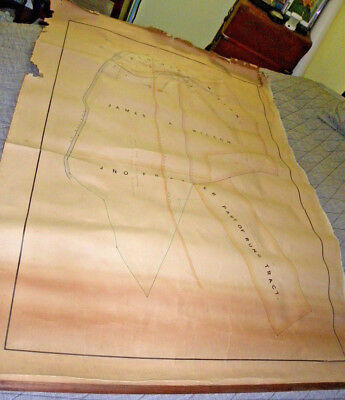 1700-1800's Pennsylvania Hand Drawn Property Survey Map~Shavers Creek Pennsylvan