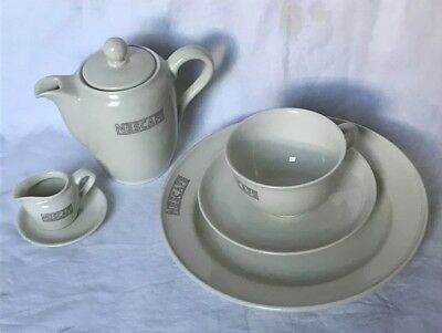 "Vintage Rosenthal Germany China ""Nescafe"" Advertising 7 pc. Dish Set"