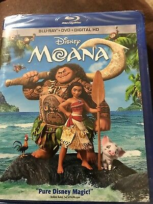Disney Moana(Blu-Ray+Dvd+Digital Hd)No Slipcover