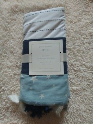 pottery barn kids max star patchwork Crib Skirt original $99 one size