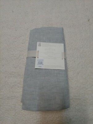 pottery barn kids belgian flax linen Crib Skirt new original $79 gray