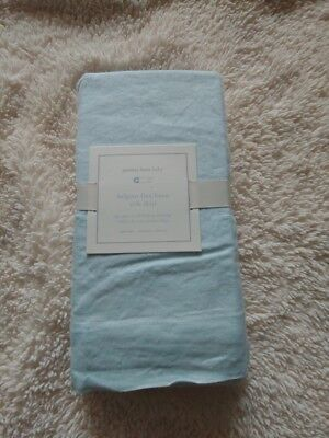 pottery barn kids belgian flax linen Crib Skirt new original $79 SEAGLASS