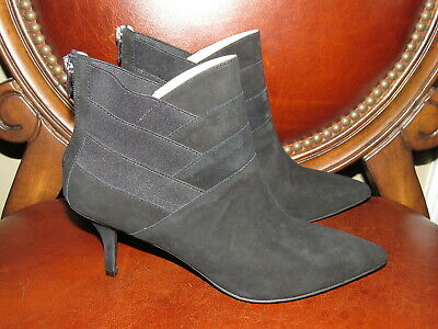 61acd5eceb1 Adrienne Vittadini Sande Black Suede Leather Ankle Boots Booties size 9.5