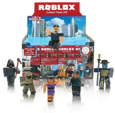 Lot of 3 BLUE Series 3 Roblox Blocks Blind Bag Collection Mystery Figures Sealed