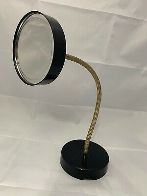 1970s Magic Focus Big Eyes Gooseneck Makeup Mirror Black