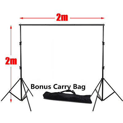 Heavy Duty Photography Studio Adjustable Backdrop Background Support Stand + BAG