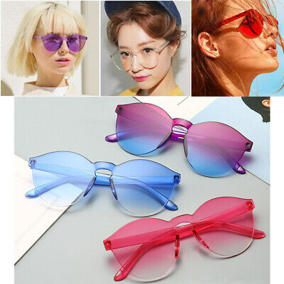 Women Men Fashion Clear Retro Sunglasses Outdoor Frameless Eyewear Glasses Hots