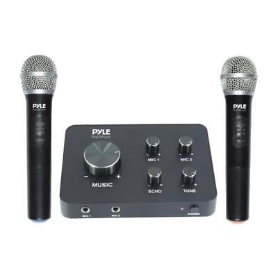 Pyle Karaoke Microphone System - Connects to TV, Receiver, Amplifier, Speaker