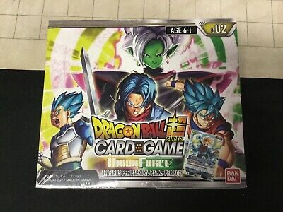 Dragon Ball Super Union Force Booster Box B 02 Factory Sealed
