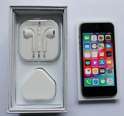 Apple iPhone 5s - 16GB - Space Grey (Unlocked). Excellent condition. Boxed.