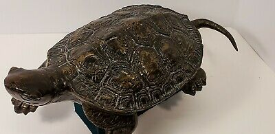 Vintage Cast Iron Turtle Doorstop/Beautiful Decor Yard Art Made in Japan Awesome