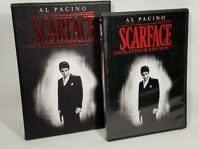 Scarface (DVD, 2006, 2-Disc Set, Platinum Edition, Al Pacino) w Slipcover VGC