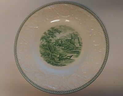 "WEDGWOOD China TORBAY Green ** 10 5/8"" Dinner Plate RARE Excellent Condition"