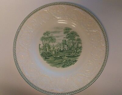 "Vintage WEDGWOOD China TORBAY Green ** 10 5/8"" Dinner Plate"