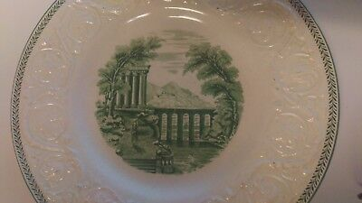 "Vintage WEDGWOOD China TORBAY Green ** 10 5/8"" Dinner Plate RARE"
