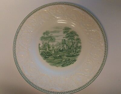 "Vintage WEDGWOOD China TORBAY Green ** 10 5/8"" Dinner Plate Scene 3"