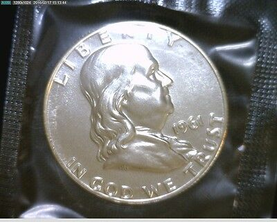 1961 Proof Silver Franklin Half Dollar In Mint Cello W Mint Mark #1942