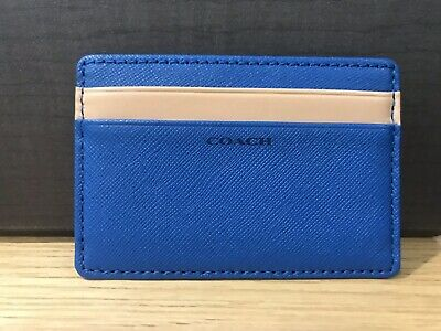 Coach Credit Card Holder - Blue