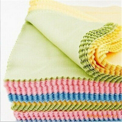 10x Microfiber Cleaning Cloth For Tablet Phone LCD Screen Camera Lens Glasses #
