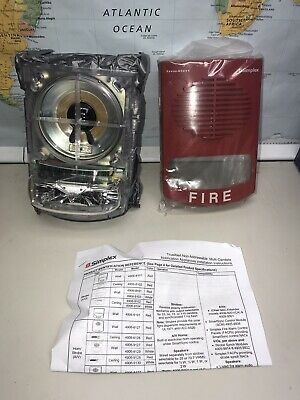 SIMPLEX 0743258 4906-9151 S//V M-C NON-ADDRESS RED WALL FIRE ALARM