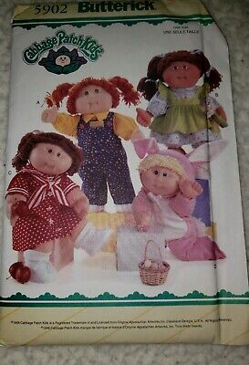 Butterick 5902 Sewing Pattern - 16 Inch Cabbage Patch Doll Clothes