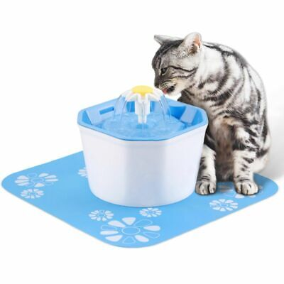 Pet Supplies Fontaine à Fleur Pour Chat Automatic Electric Flower 1.6 L Distributeur Eau Vert Cat Supplies