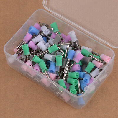 100pcs Disposable Dental Latch Polishing Polisher Prophy Cup Fit For Angle