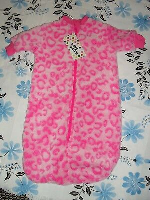 BNWT Baby Berry size 000 (0-3mths) poly pink printed zippered sleep wear EC $15