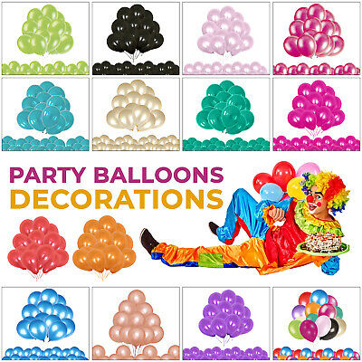 100pcs Helium Pearlised 10inch Latex Balloons Wedding Birthday Party Christening