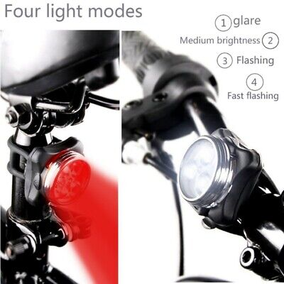 8b272e893c6 Bike Cycling 3 LED Head Taillight Set Front Tail Warning Light USB  Rechargeable