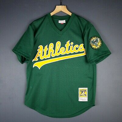 1759f157e 100% Authentic Rickey Henderson Mitchell Ness Athletics BP Jersey Size M 40  Mens