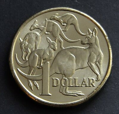 2018 $1 Dollar MOR Coin UNC Mob Of Roos. From a Royal Australian Mint Bag.