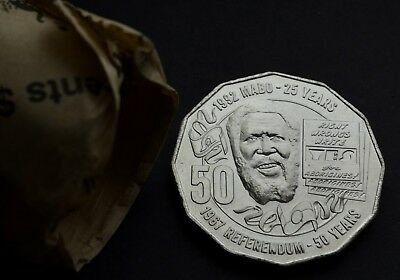 2017 Australian 50 cent 50c Mabo 1967 REFERENDUM 50 YEARS - UNC Ex RAM Mint Roll
