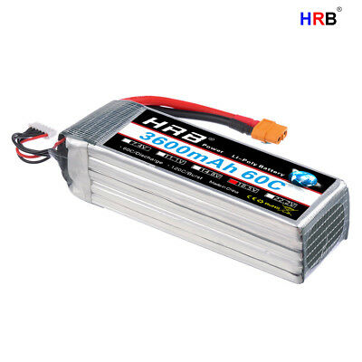 HRB 18 5V 5S 3600mAh LiPo Battery Pack 60C-120C XT60 for RC Helicopter  Drone Car