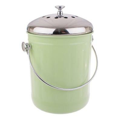 Kitchen Compost Bin Waste Composter Food Garden Recycling Scrap Trash Green 5L