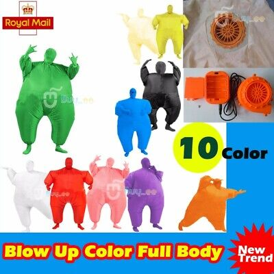 Inflatable Fat Chub Masked Suit Blow Up Fancy Dress Costume Halloween Party UK