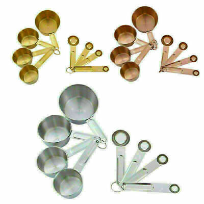 MEASURING SPOONS Set Cups Kitchen Utensil Cooking Baking Tool Stainless Steel