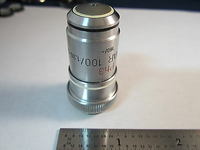 Optique Microscope Objective Neofluar 100x Ph3 Allemagne Carl Zeiss Bin #