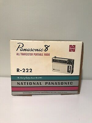 Vintage National Panasonic Portable 8 Transistor Radio Boxed