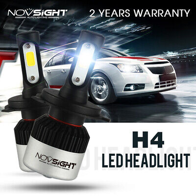 NOVSIGHT 72W H4 9000LM LED Headlight Kit Light Bulb High/Lo Xenon 6500K White