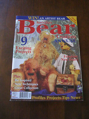 Australian Bear Creations: Annual: Vol.9 No. 8: Pattern sheet attached :Preloved