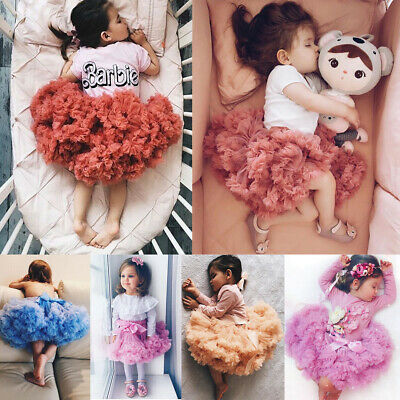 Cute Newborn Baby Kids Girl Tutu Fluffy Party Skirt Photo Prop Costume Outfit UK
