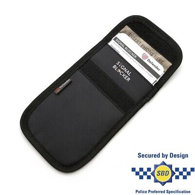 Defender Signal Blocker Black Pouch Keys Mobile Phone Fobs One Size Fits All