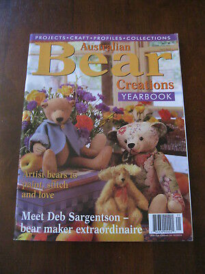 Australian Bear Creations: Yearbook: Vol 5 No.3: Pattern sheet attached:Preloved