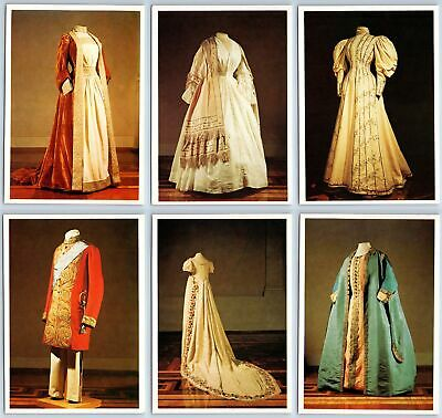 ART OF COSTUME IN RUSSIA Old Fashion Dress XVIII-XX cent. RARE Set 16 Postcards