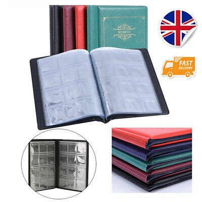 120 Coin Collection Album Money Storage Case Holder Coin Collecting Book UK new