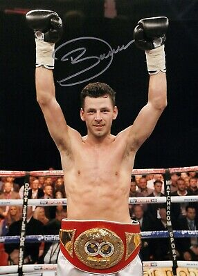 SALE DARREN BARKER BOXING HAND SIGNED PHOTO AUTHENTIC + COA - 16x12
